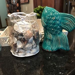 Ceramic Fish and Seashell bundle